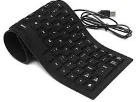 Universal Flexible & Washable USB External Keyboard